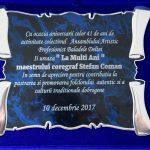 16. COLECTIVUL ANSAMBLULUI ARTISTIC BALADELE DELTEI PLACHETA ANIVERSARA