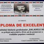 20. ASOCIATIA CULTURALA CONSTANTIN GANESCU BRAILA DIPLOMA DE EXCELENTA