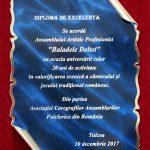 3. ASOCIATIA COREGRAFILOR ANSAMBLURILOR PROFESIONISTE DIN ROMANIA DIPLOMA DE EXCELENTA